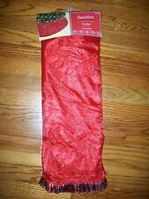 "Sandra Lee Tree Skirt 52"" Merry Holiday Red"