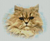 "Persian Cat Counted Cross Stitch Kit 11""x 9"" 27cm x22cm Free P&P"