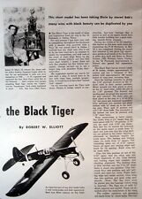 Vintage P-40 BLACK TIGER UC OTS TWO PLANS Berkeley + Air Trails Model Airplane