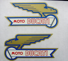 DUCATI bevel single set tank decals Ducati wings old logo new