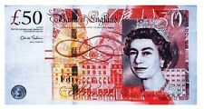 £50 Bank Note Tea Towel Fifty Pounds British UK Cotton Souvenir Currency Money