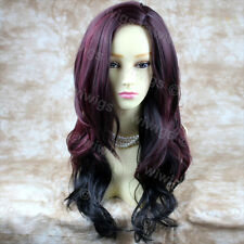 Wiwigs Stunning Long Layered Wavy Red Mix Natural Skin Top Ladies Wig