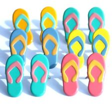 FLIP FLOP BRADS ** 5 COLORS ** 4 PAIRS ** PINK YELLOW BLUE ** SEE MY STORE