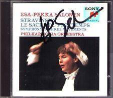 Esa-Pekka SALONEN Signiert STRAVINSKY Le Sacre du Printemps Rite of Spring CD