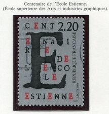 TIMBRE FRANCE OBLITERE N° 2563 ECOLE ESTIENNE DES ARTS