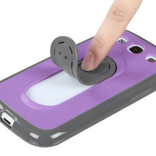 For Samsung Galaxy S III 3 HARD Case Phone Cover with Snap Tail STAND Purple