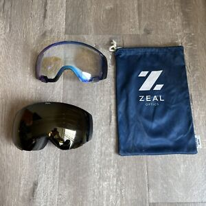 ZEAL OPTICS - GOGGLES w/ PHOTOCHROMIC + POLARIZED YB LENS & BONUS BLUE SKY LENS