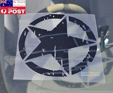 Black Star Graphics Vinyl Car Hood Window UV Protector Waterproof Sticker 23cm