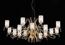Lampadario classico di design foglia oro e cristallo BELL delhia 2015/L16L