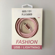 Fashion USB Data Cable für iPhone 5 5S 5SE 6 6Plus iPad Air 2 1.5 m rose Peter J