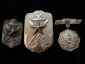 T11O) Petit lot n°1 d'insignes japonais ancien Japon japanese MEDAL