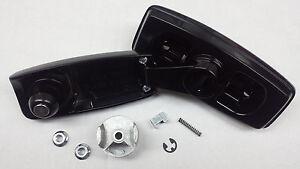 Black rear tailgate window crank handle with clutch fits M1009 CUCV K5 Blazer