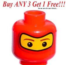 ☀️NEW Lego Spiderman Red Head Face City Mask Soldier Balaclava Minifigur  mini