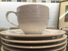 12 Noritake Arctic White Teacups and Saucers (4000)