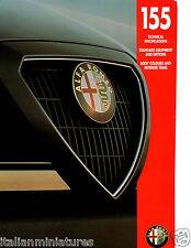 Alfa Romeo 155 T SPARK V6 Q4 Reino Unido 6 página folleto de ajuste de color depliant 1994