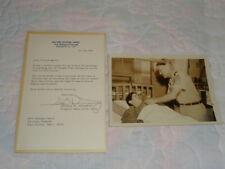 1969 George W. Dunaway SIGNED 2d Sergeant Major Army Purple Heart Vietnam Letter