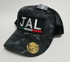 JALISCO    MEXICO HAT    MESH TRUCKER DIJITAL GRAY  BLACK  ADJUSTABLE  NEW