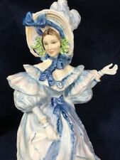 ROYAL DOULTON Flowers of Love FORGET-ME-NOTS, HN3700 Figurine Lady, 1994, MINT
