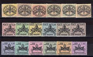 Vatikan Vaticano PORTO Portomarken Nr.7 - 12 13 - 18 19 - 24 ** postfrisch MNH