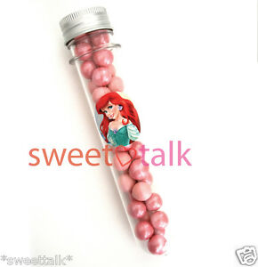 ARIEL MERMAID CHOCOLATE BIRTHDAY PARTY FAVOUR, CANDY TEST TUBE, LOLLY STICK