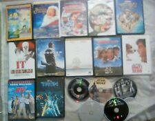 Dvd Lot of 18 Disney Tron - Shooter - Space Jam - It - Santa Clause 2 - Rudolph