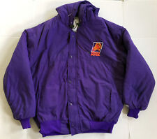 Vintage Phoenix Suns DeLong Hood Jacket Zip & Snap Purple Men's XL - Made in USA