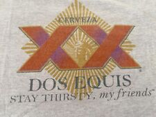 Classic VTG. CERVEZA DOS EQUAS STAY THIRSTY, My Friends Strong Beer T-shirt M