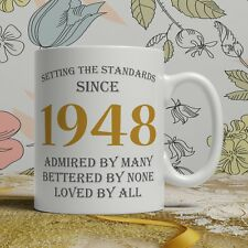 70th birthday gift mug born 1948 idea grandpa men women ladies dad mum happy 70
