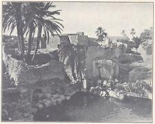 G0850 Tunisie - Gafsa - Piscine - Stampa d'epoca - 1923 old print