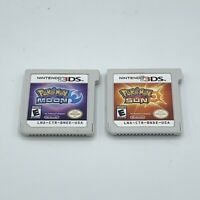 Pokemon Sun & Moon Bundle Lot Nintendo 3DS 2DS Cartridges Only Action Adventure