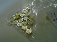 Lego Lot of 21  Pieces of Money 40 30 20 10 Gold Coins Treasure Chest