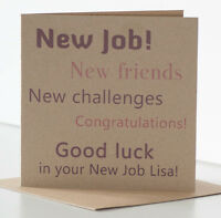 Good Luck in your New Job Card Personalised Congratulations on your New Job