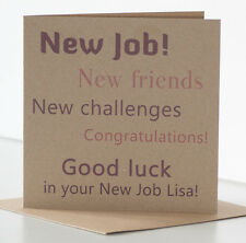 Good Luck in your New Job Card Personalised, Rustic New Job Card Congratulations