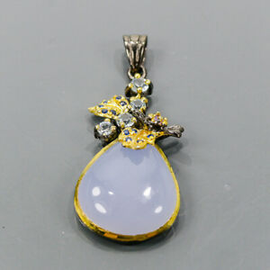 One of a kind Chalcedony Pendant Silver 925 Sterling  /NP15163
