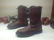 1999 RED WING MADE IN USA BROWN DISTRESSED LEATHER ENGINEER BOSS BOOTS 15 B