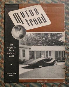 MOTOR TREND #2 1949 MG 1950 Studebaker 1941 Buick Custom Auto Racing Vintage old