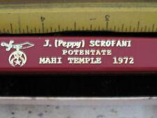 VINTAGE MASONIC SHRINER KNIFE 1972 MAHI TEMPLE