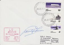 ANTARCTIC TERRITORY ETC STAMPS 1981 ENVELOPE SIGNED RANULPH FIENNES EXAMPLE 2