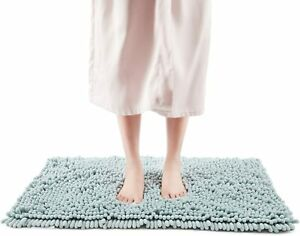FRESHMINT Chenille Bath Rugs Extra Soft Fluffy and Absorbent Microfiber Shag Rug