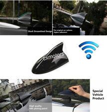 Black Car Shark Fin Roof Antenna Radio FM/AM Decorate Aerial For BMW VW Car 12V