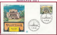 ITALIA FDC FILAGRANO VILLE VILLA SANTA MARIA CAPO PULA CA 1985 TORINO Y901