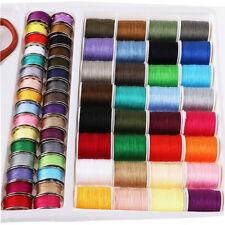 100X Sewing Kit Thread Threader Needle Tape Storage Box Measure Scissor Thimble