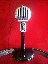 Vintage 1950's Turner S33X crystal microphone old w Astatic desk stand