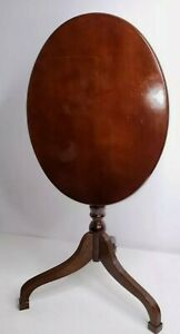 Vintage  The Bombay Company Tilt Top Oval End Side Table Cherry Wood