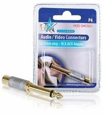 HQ 6.33mm Jack Mono Male to RCA Adapter 24K gold plated adapter