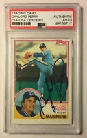 1983 Topps Signed Autographed GAYLORD PERRY Baseball Card PSA/DNA HOF
