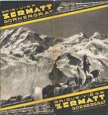 Ferrovie Brig-Visp Zermatt Gornergrat 1933 Brochure Cervino Svizzera