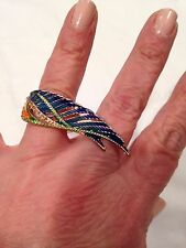 Rachel Roy ring multicolor wing stretch ring $38 sold out in stores  brand new