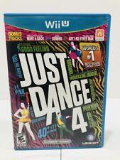 Just Dance 4 (Nintendo Wii U, 2012) Free Shipping!!
