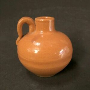 Early to Mid 20th C Uhl Pottery, 509 Jug, Brown Glaze, 4""